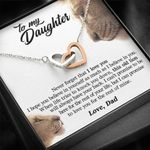When Life Tries To Knock You Down Interlocking Hearts Necklace Gift For Daughter
