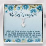 The Gift Of You Blue Hibiscus Alluring Beauty Necklace Gift For Bonus Daughter