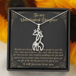The Gift Of You Giraffe Couple Necklace Gift For Unbiological Daughter