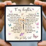 You Will Always Be My Child Gift For Daughter Interlocking Hearts Necklace