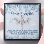 Always Share The Same Love Dragonfly Dreams Necklace Gift For Bonus Daughter
