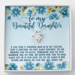 Blue Hibiscus When We're Not Together Love Knot Necklace Gift For Daughter