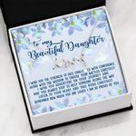 How Much You Are Loved Scripted Love Necklace Gift For Daughter