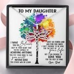 Colorful Tree You Will Never Lose Dragonfly Dreams Necklace Gift For Daughter