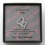 Everyday With You Is Better Than The Day Before Gift For Wife Double Hearts Necklace