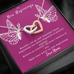 Open Your Heart Gift For Her Interlocking Hearts Necklace