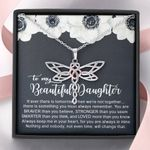 Always Keep Me In Your Heart Dragonfly Dreams Necklace Gift For Daughter