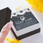 Always Keep Me In Your Heart Forever Love Necklace Gift For Daughter