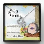Wish You The Strength To Face Challenges Double Hearts Necklace Gift For Niece