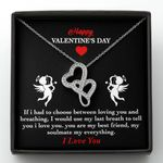 You Are My Soulmate My Everything Double Hearts Necklace Gift For Wife