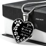 God Has You In His Arms Gift For Dog Lovers Stainless Heart Pendant Necklace
