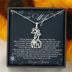 Gift For Wife How Much You Mean To Me Giraffe Couple Necklace