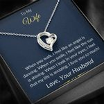 When I Look In Your Eyes Forever Love Necklace Gift For Wife