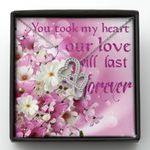 Our Love Will Last Forever Double Hearts Necklace Gift For Her