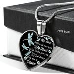 Spiritual Dragonfly You Are At Peace Stainless Heart Pendant Necklace Gift For Women