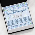 My Love For You Flower Garden Scripted Love Necklace Gift For Daughter
