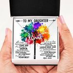 Colorful Tree As I Grow Old Scripted Love Necklace Gift For Daughter