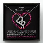The Only Person In The World Double Hearts Necklace Gift For Wife