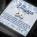 If I Was Left With Two Breaths Infinity Heart Necklace Gift For Daughter