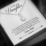 Never Forget I Love You Alluring Beauty Necklace Dad Gift For Daughter