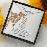 Gift For My Daughter Giraffe Couple Necklace You Are My Heart My Soul