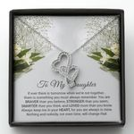 When We're Not Together Double Hearts Necklace Gift For Daughter