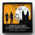 Gift For Wife You'll Be My Queen As Long As We Live Double Hearts Necklace