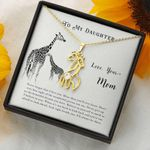 I Will Always Be There Gift For Daughter Giraffe Couple Necklace