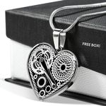 Cycling Love Machine Stainless Heart Pendant Necklace Gift For Women