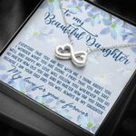 Follow You Wherever You Go Infinity Heart Necklace Gift For Daughter