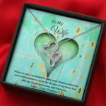You Are My Dreams Come True Double Hearts Necklace Gift For Wife