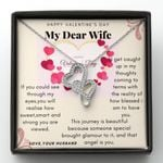 Gift For Wife How Blessed I Am To Have You Double Hearts Necklace