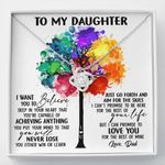 Colorful Tree The Rest Of Mine Love Knot Necklace Gift For Daughter
