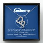 Gift For Soulmate I Love You Forever And Always Double Hearts Necklace