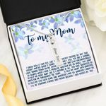 My Love For You Flower Garden Birthstone Name Bar Necklace Gift For Mama