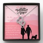 Spend One Lifetime With You Double Hearts Necklace Gift For Wife