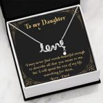 Never Find The Words Scripted Love Necklace Gift For Daughter