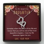 One Of The Most Beautiful Chapters Double Hearts Necklace Gift For Daughter