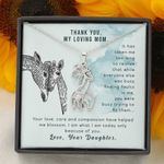 Thank You My Loving Mom Gift For Mom Giraffe Couple Necklace