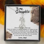This Old Lion Will Always Have Your Back Giraffe Couple Necklace Gift For Daughter