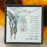 Since She Came Along Giraffe Couple Necklace Gift For Daughter