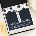 Before I Met Her Birthstone Name Bar Necklace Gift For Step Daughter