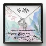 Our Love Story Is My Favorite Gift For Wife Double Hearts Necklace