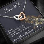 You Are The Beat Of My Heart Interlocking Hearts Necklace Gift For Her