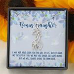 We'll Always Share The Same Love Giraffe Couple Necklace Gift For Bonus Daughter