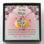 To Wife Love You Forever And Always Double Hearts Necklace Gift For Her