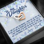 If I Was Left With Two Breaths Interlocking Hearts Necklace Gift For Daughter