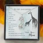 When We Can't Be Together Giraffe Couple Necklace Gift For Daughter