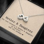 The Love Between Mom And Daughter Infinity Heart Necklace Gift For Daughter