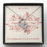 Gift For Lover Everything About You Is Beautiful Double Hearts Necklace